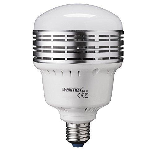 Walimex Pro LED Lampe LB-45-L für Fotoaufnahmen (E27 Sockel, 45 Watt, 4500 Lumen, 5500K, entspricht Tageslicht, flackerfrei)