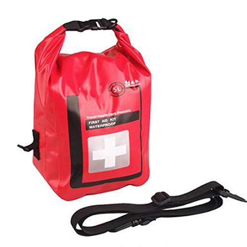 SQZQ Erste-Hilfe-Set, Outdoor-Abenteuer Erste-Hilfe-Set Schmutzfeste und feuchtigkeitsbeständige Notfallrettungseinzelschulter-wasserdichte Tasche 5L