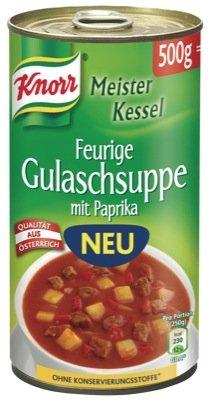 Knorr MK 500g, feurige Gulaschsuppe 6 x 500 g