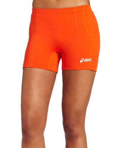 ASICS Damen Baseline Volleyball Short Orange, X-Large - Shorts Orange Womens Compression