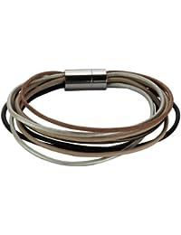 ZEEme Stainless Steel Damen-Armband  Leder 20cm Magnetverschluss 347060062-20