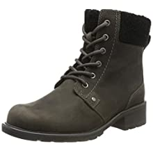 Clarks Orinoco Dusk, Women's Biker Boots, Grey (Dark Grey Leather), 4.5 UK (37.5 EU)