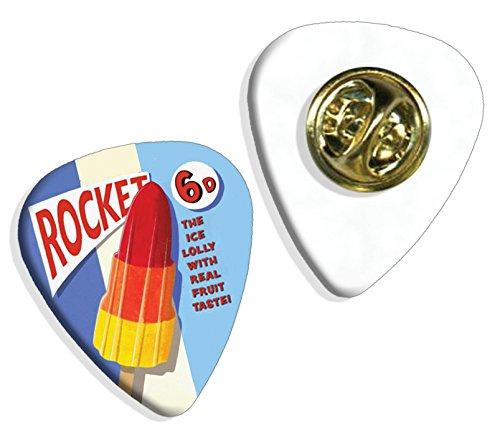 Rocket Ice Lolly Martin Wiscombe Púa Para Guitarra Badge Vintage Retro