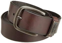 Levis Mens Bridle Belt With Ornament,Brown,34