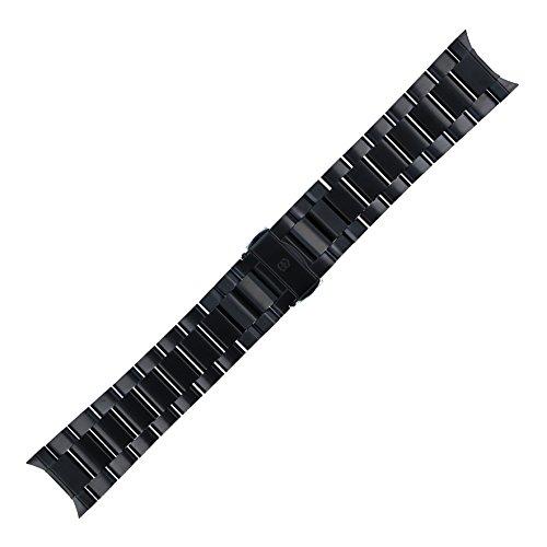 Victorinox Uhrenarmband 24mm Edelstahl Schwarz - Uhrband Set 004683