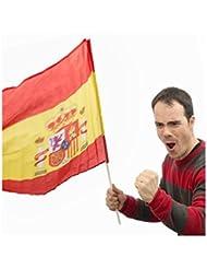 Bandera de España con Palo 60 x 90 cm