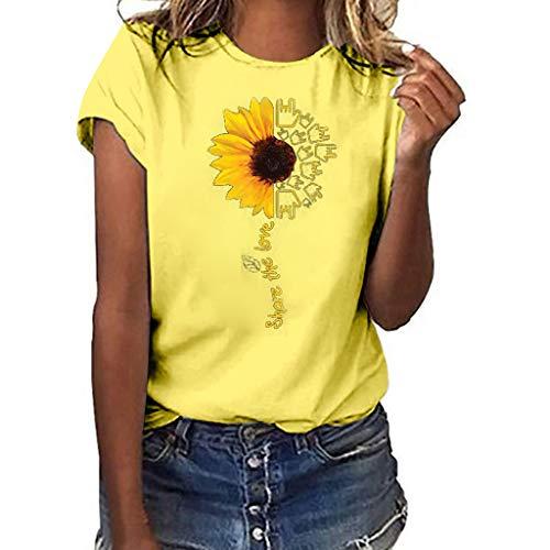 Femme Frühling und Sommer Blouse,Rifuli® Mädchen Plus Size Lips Print Kurzarm T-Shirt Bluse TopsSportbekleidung Damen T-Shirts Shirts Blusen