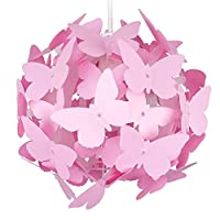 Modern Globe Design Ceiling Pendant Light Shades with Decorative White Butterflies