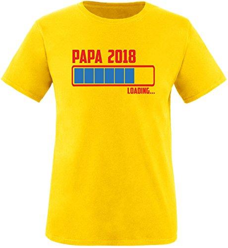 EZYshirt® Papa 2018 Herren Rundhals T-Shirt Gelb/Rot/Blau