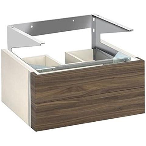 KEUCO de lavabo de la parte inferior de la edición de 300 30364, la parte delantera de 2 secciones, de colour blanco/de chapa de madera de roble, 30364389000