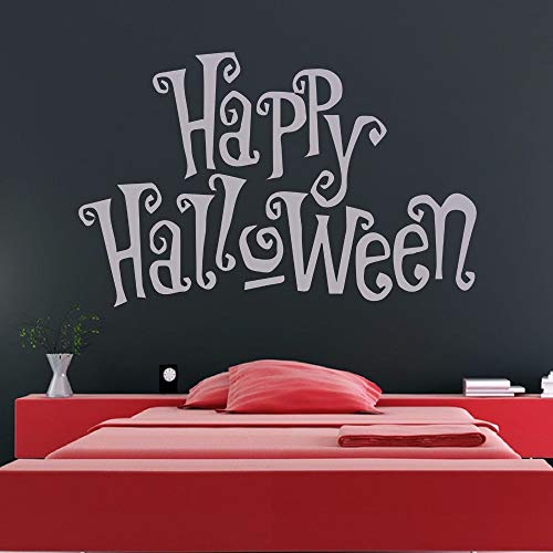 (wandaufkleber blumen Happy Halloween Spooky Writing für Schlafzimmer Holiday Quotes Living Room)