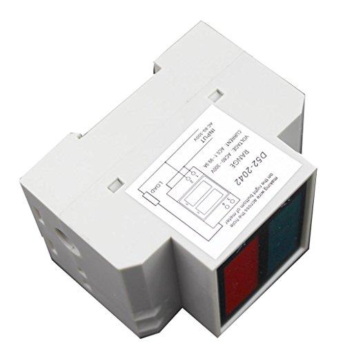 Doble Carril De Pantalla D52-2042 AC Voltímetro Digital 80-300V 0.1-99.9A