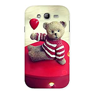 Impressive Red Heart Teddy Back Case Cover for Galaxy Grand Neo