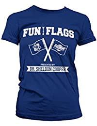 Officiellement Marchandises Sous Licence Fun With Flags Femme Tee