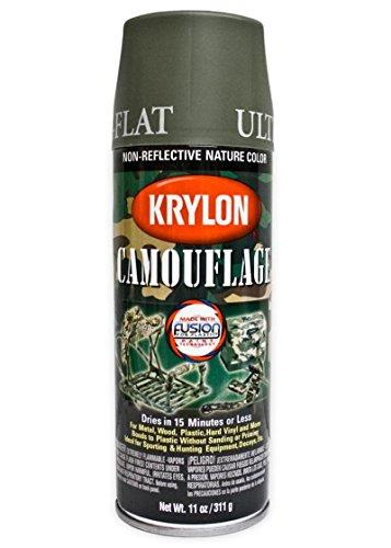 SPRAY KRYLON COLOR VERDE OLIVA MATE (OLIVE ULTRA-FLAT)