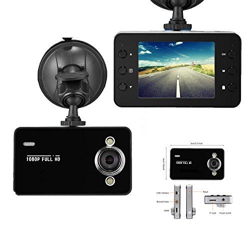 1080 Full HD Cámara de Coche,Videocámara DVR para Coche con Caja Negra,32 GB TF tarjeta,120°,Dashboard Conducir Videocámara con Visión Nocturna