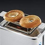 Russell Hobbs 24370-56 Toaster Inspire White, Lift and Look Funktion, bis zu 6 einstellbare Bräunungsstufen, extra breite Toastschlitze, Brötchenaufsatz, weiss - 8
