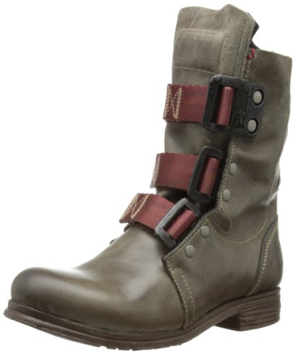 Fly London STIF Damen Biker Boots Grau Dk Grey 007 physio