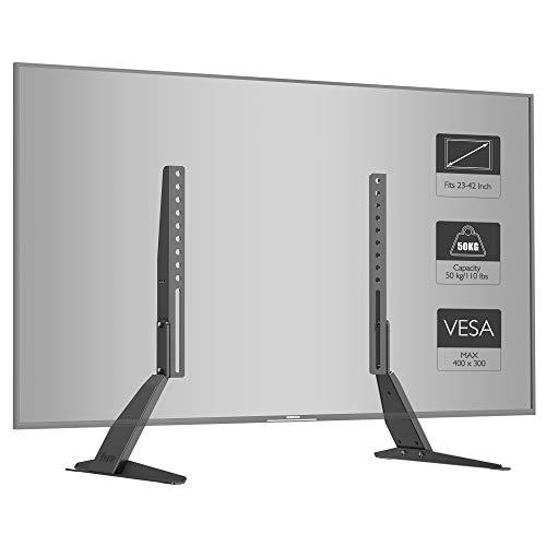 1home Soporte Universal de TV de sobremesa para Monitor con Montaje en Pedestal Que se Adapta a Pantallas...