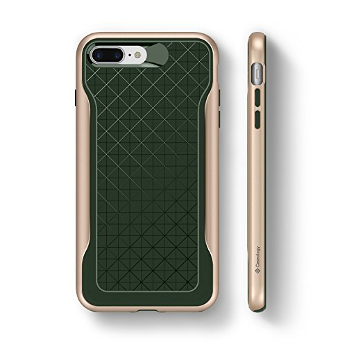 iPhone 8 Plus Case, Caseology [Apex Series] Slim Protective Dual Layer Textured Cover Secure Grip Geometric Design [Burgundy] for Apple iPhone 8 Plus (2017) / 7 Plus (2016) Pino Verde - Pine Green