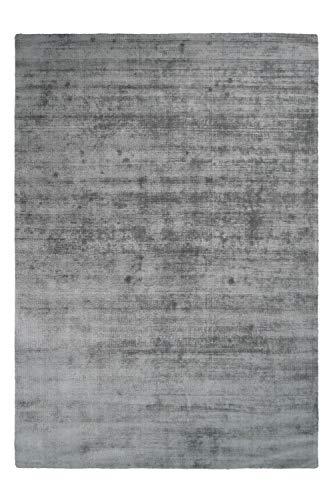 One Couture Flachflor Teppiche 100% Viskose Handgewebt Modern Kurzflorteppich Mint Grau, Größe:160cm x 230cm - Viskose-teppich