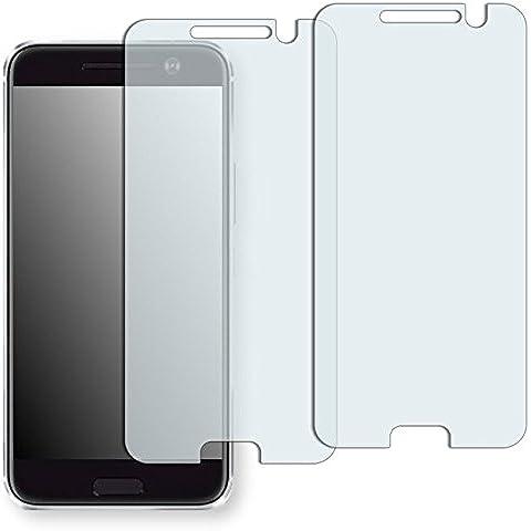 2x Golebo Semi-Matt protectores de pantalla para HTC 10 - (efecto antirreflectante, montaje muy fácil, removible sin residuos) (Intencionadamente es más pequeña que la pantalla ya que esta es