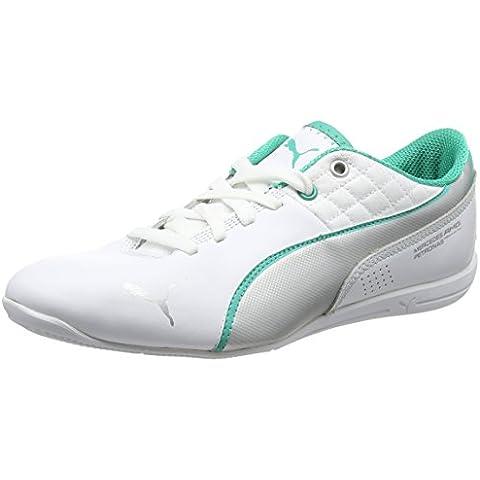 Puma DRIFT CAT 6 MAMGP Zapatillas Sneakers Motorsport Blanco Verde para Hombre Merdeces AMG