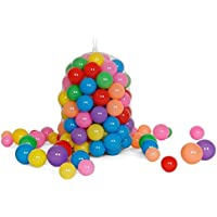 Stillshine Pack de 30pcs/50pcs /100pcs bolas, multicolor, diámetro de 5.5cm/ 7 cm/ 8cm ,Marinas Juguete de los Niños Pelotas de Colores para Piscina Bolas de Plástico en Parque Infantil Regalo para Niños Bebé BUK-01 (Color al azar) (50 bolas, 7CM)