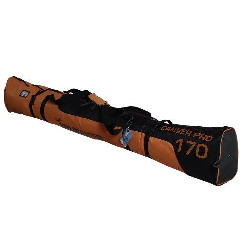 BRUBAKER Carver Pro 2.0 gepolsterte Skitasche mit Zipperverschluss Orange / Schwarz 190 cm