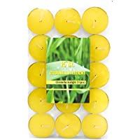 15unidades citronela velas zitronenöl té luz Diámetro 35mm–Solo para exterior, amarillo
