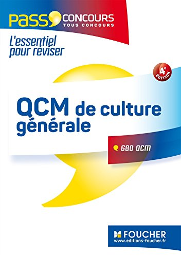 QCM de culture générale - Tous concours - Entraînement et révision - Pass'Concours Nº3