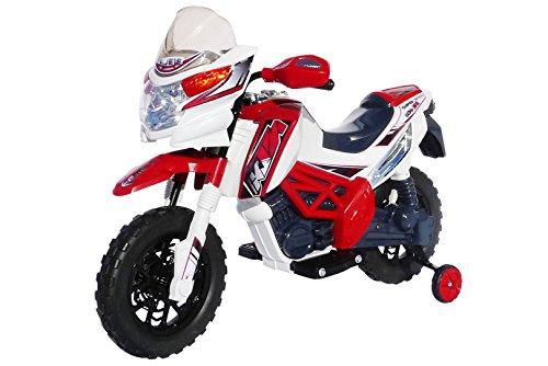 Kinder Elektromotorrad J518 Elektro Kinderbike Kinderfahrzeug (rot)