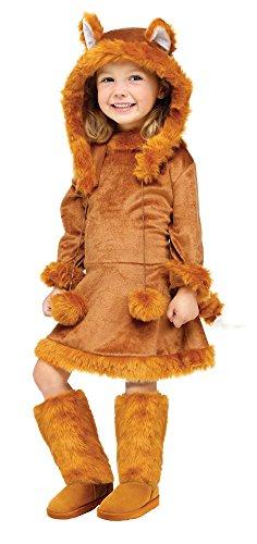 Kostüm Mädchen Fuchs - Unbekannt Süßer Fuchs Kinderkostüm für Mädchen (Größe 98-110)