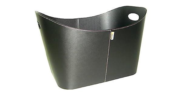 Aduro Baseline nero in ecopelle di legna//portalegna