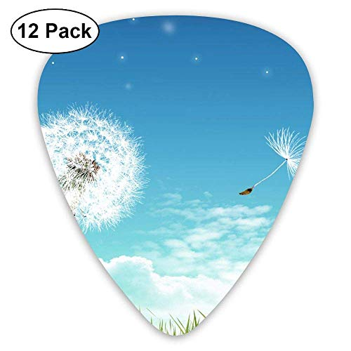 Sunny Day Dandelion Classic Guitar Pick (12 Pack) for Electric Guita Bass