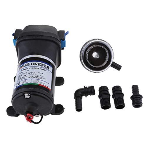 Homyl 12 Volt Wasserdruckpumpe Automatische Druckwasserpumpe Wasserpumpe Gartenpumpe Bootspumpe