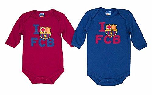 FCB F.C.Barcelona - Bodies Barça, Color Azul Y Granate, Talla 12 Mese