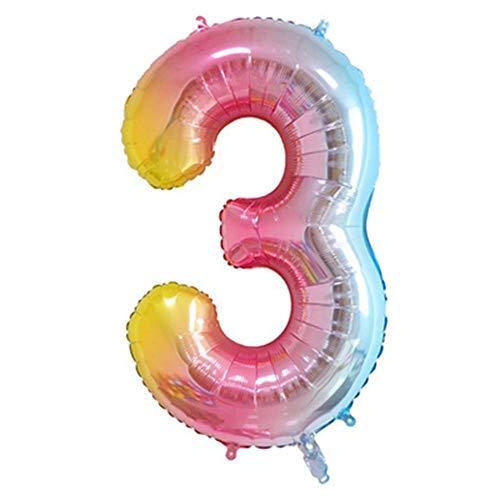 40-Zoll-Geburtstags-Partydekorationen Zubehör Anzahl Ballons Helium Folie Mylar Digital Ballons Party Hochzeit Bachelorette Brautdusche Graduation Jubiläumsfeier Dekoration