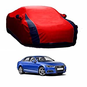 MotRoX Lively Water Resistant Car Body Cover for Audi A4 (Red & Blue - V Shape)