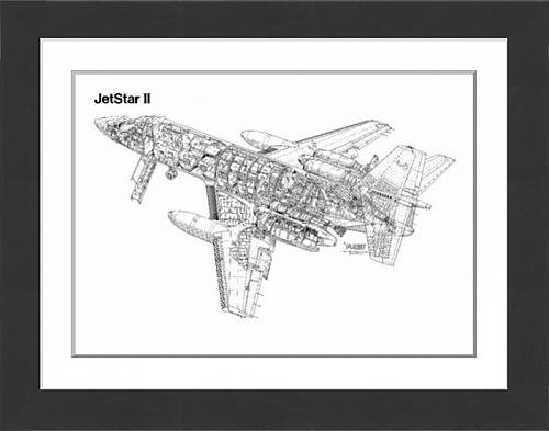 framed-print-of-lockheed-jetstar-ii-cutaway-drawing