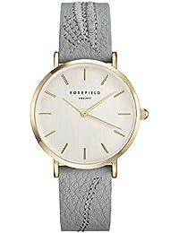 Rosefield City Bloom Cuarzo - Reloj (Reloj de pulsera, Femenino, Oro, Cuero,…