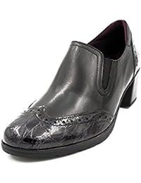 2a6d24c4e6a Zapato Mujer Copete PITILLOS - Piel Color Negro Combinado con Coco Charol  Negro - 1245-