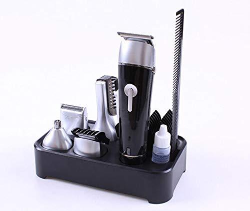 WYDM Männerrasierer ,5 In 1 Wasserdichtem Wiederaufladbarem Pflegeset Haarschneider Bart Dual Shaver Body Trimmer Nasenhaar Präzisions-Trimmer Entfernen, Black - Body Electric Razor