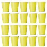 50X Bicchiere Giallo USA E GETTA PER BEVANDE fredde e bevande calde in cartone ecologico, matrimonio, compleanno, tazza di caffè, Picnic, giardino, party, Grigliare