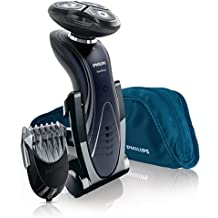 Philips SHAVER Series 7000 SensoTouch RQ1195/17 Máquina de afeitar de rotación Negro - Afeitadora (Máquina de afeitar de rotación, SkinGlide, RQ11, Negro, LED, Batería)