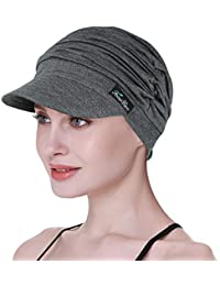 613705cda1bc71 FocusCare Soft Hats for Chemo Women Bamboo Baseball Cap Hair Loss Turbans