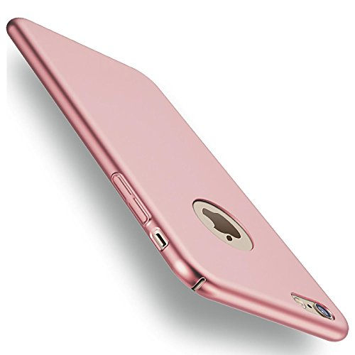 iPhone 6s Plus, 6 Plus Hülle, Conie Slim Basic Case Hybrid Schutzfülle Leichte PC Handyhülle Ultra Dünn Schlank Bumper Rosegold