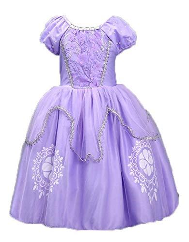 LCXYYY Mädchen Prinzessin Sofia Tüll Kostüm Karneval Verkleidung -