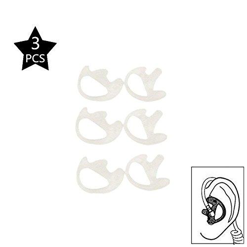 2-Wege-Ohrbügel, Kopfhörer für zwei-Wege-Radio Coil-in-Ear-Ohrstöpsel, Walkie-Talkie-Set, akustische Air Tube Hörmuschel Headset, Silikon, Weiß, Größe M, 3Stück