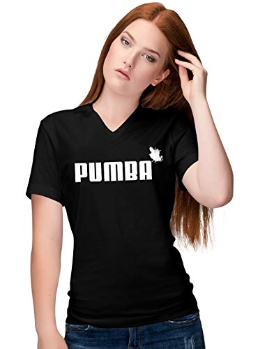 Pumba Lion and The King Damen V-Neck T-Shirt M -